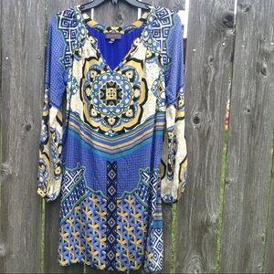 Hale Bob. 94% silk.   Print dress